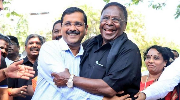 puducherry power crisis, what puducherry thinks of statehood, demonetisation, gst impact, puducherry statehood, puducherry statehood in manifesto, Kiran Bedi, Puducherry, Narayansamy, V Narayansamy protest, Narayansamy dharna, Puducherry protest, Pondicherry, Puducherry Stand-off, lok sabha elections 2019, election news, Indian express