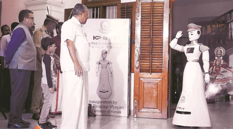 Kerala Police gets a robot — to receive visitors
