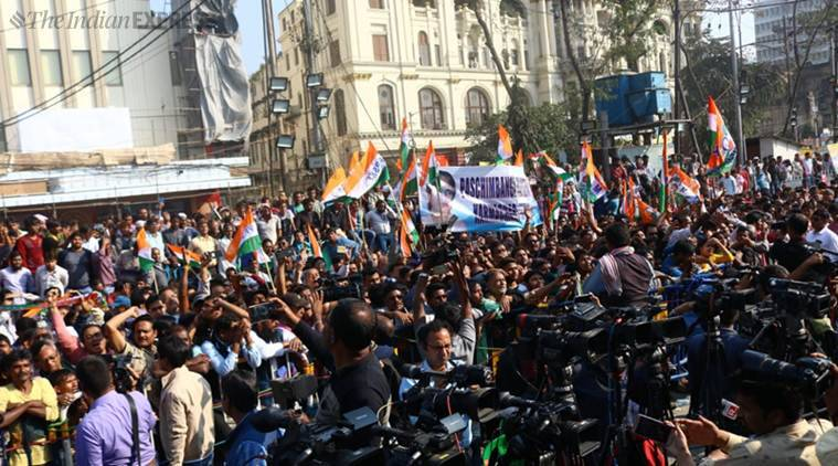 Centre vs Mamata: At the site of her dharna, voice from margins: 'Just like Singur'