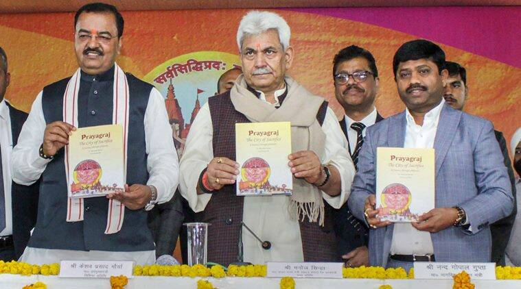 manoj sinha, narendra modi, lok sabha constituencies, passport, passport centres, kumbh mela, kumbh mela commemorative postage stamp, indian express news