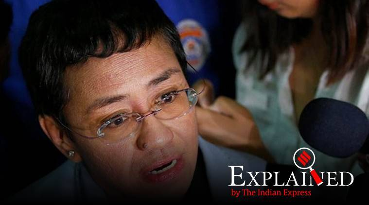 Maria Ressa, Who is Maria Ressa, Philippines, Rodrigo Duerterte, Philippines journalist, Philippines journalist arrested, Philippines news, world news Indian Express