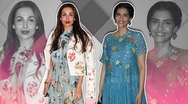 Sonam Kapoor floral dress, Sonam Kapoor Ahuja maxi dress, malaika arora