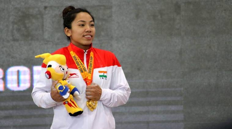 Weightlifter Mirabai Chanu at a tournament in Thailand