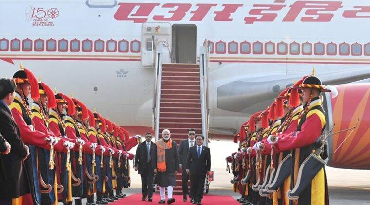 PM Modi arrives in Seoul on Thursday. (Source: Twitter/PMOIndia)