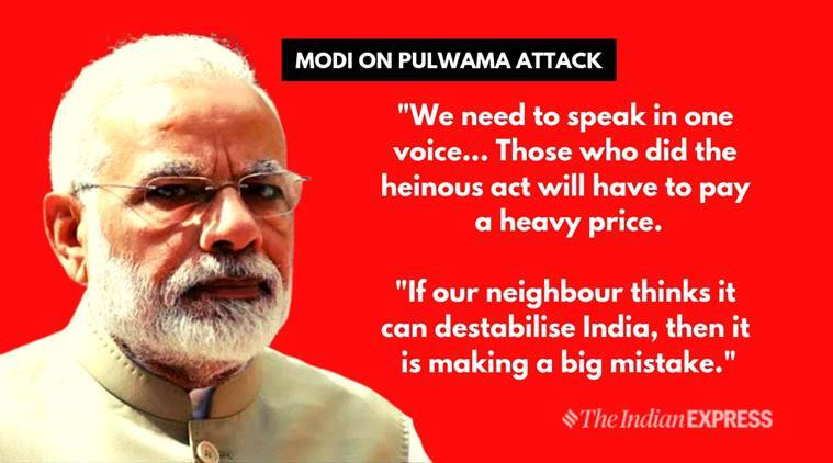 Pm Modi On Pulwama Attack: 'terrorists Will Pay Heavy Price For Heinous Act'