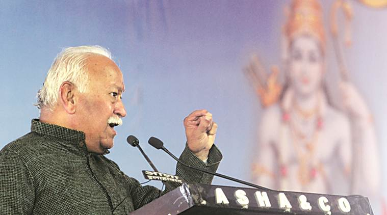 RSS, Mohan Bhagwat, Mohan Bhagwat on Sabarimala temple, Ayyappa, Sabarimala temple row, sabarimala temple row, sabarimala temple women entry sc order, sabarimala temple women entry ban, Sabarimala temple supreme court, ram temple, Indian express