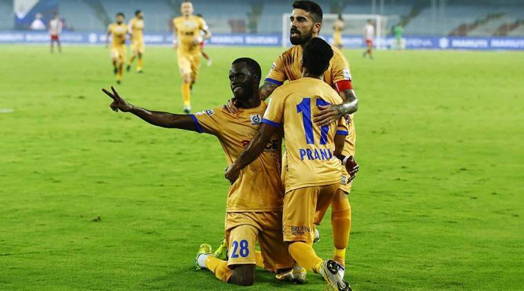 Isl 2018-19: Moudou Sougou's Hat-trick Hands Mumbai City Fc Play-off Spot
