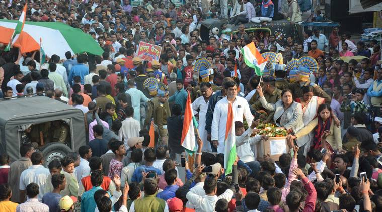 Pulwama attack: With slogans, Patna bids farewell to its braveheart