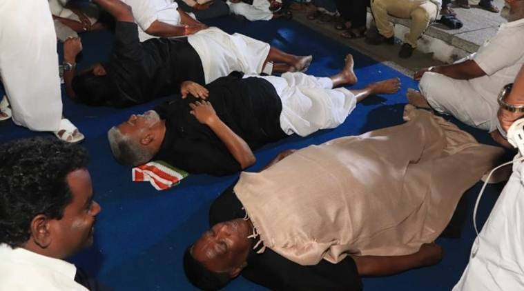Puducherry Cm Sleeps Outside Lg Kiran Bedi's Home Against Her 'autocracy', Stays Put