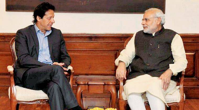 Prime Minister Narendra Modi with his Pakistani counterpart Imran Khan