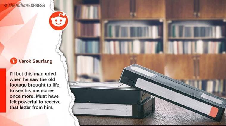 VHS, retro media player, reddit user, old man, emotional letter, grandpa, grandparents, indian express, indian express news