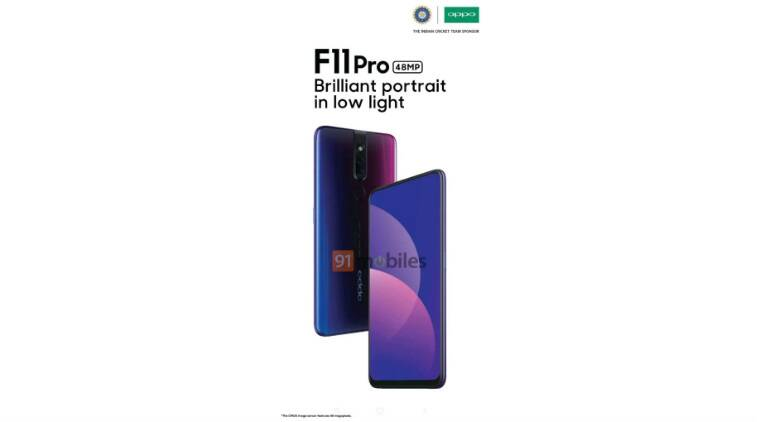 oppo f11 pro, oppo f11 pro leak, oppo popup selfie, oppo 48 mp camera, oppo f11 pro specification, oppo r19