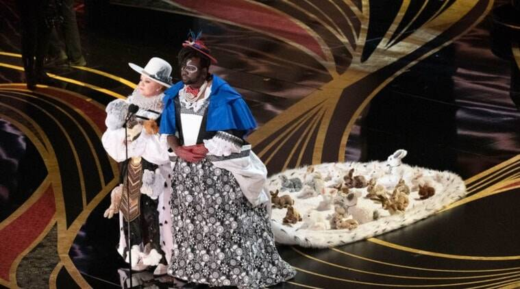 The Best Oscar Fashions Were Not On The Red Carpet They Were On Melissa Mccarthy And Brian Tyree Henry Lifestyle News The Indian Express