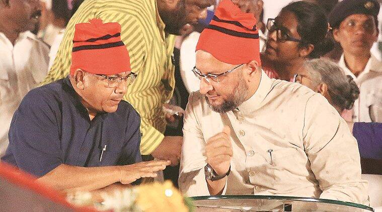 In show of strength, Ambedkar and Owaisi take on Congress