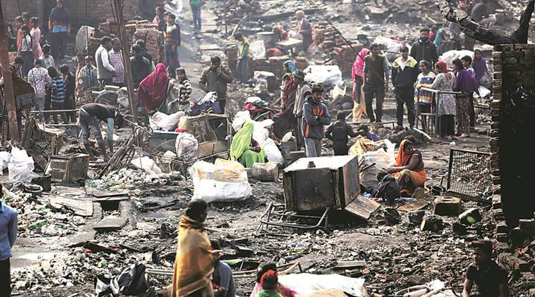 Delhi: 200 Jhuggis Gutted In Paschim Vihar Fire, Cm Kejriwal Says Will Pay To Rebuild Homes