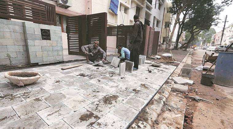 Municipal commissioner puts brakes on paver work in Chandigarh