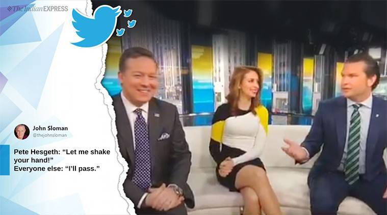 Pete Hegseth, Fox news, Tv show host admits to not washing hands for 10 years, Pete Hegseth doesn't wash hands, Pete Hegseth viral video, Pete Hegseth hands wash video, indian express, indian express news