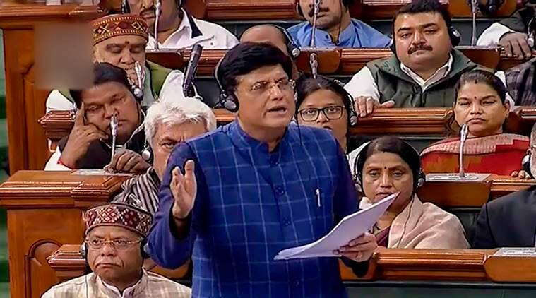 Budget session, Parliament budget session, Budget 2019, 2019 interim budget passed, Rajya Sabha, Piyush Goyal, Congress, Indian express