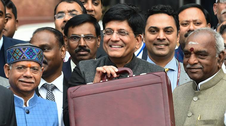 Piyush Goyal leaving for Parliament to present the Budget 2019