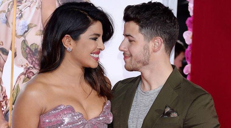 nick jonas, priyanka chopra at ins't it romantic premiere