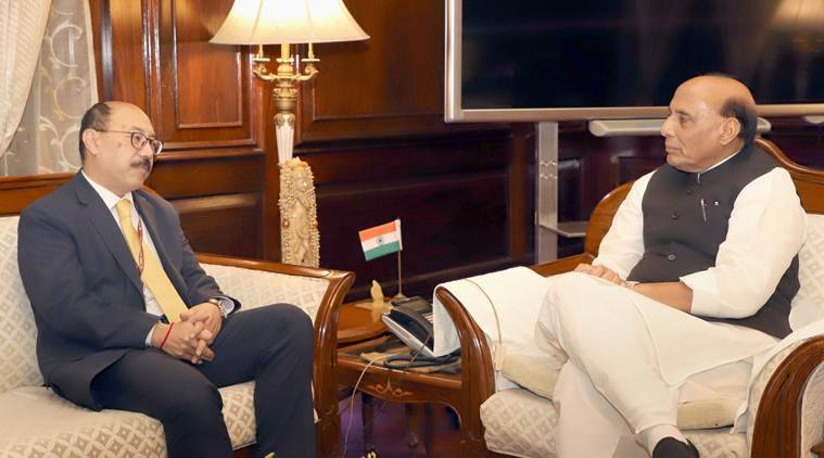 Rajnath meets India's envoy to Pakistan