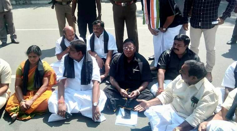 Puducherry Standoff: Cm's Dharna Enters Fifth Day, Warns Of 'jail Bharo' From Feb 20
