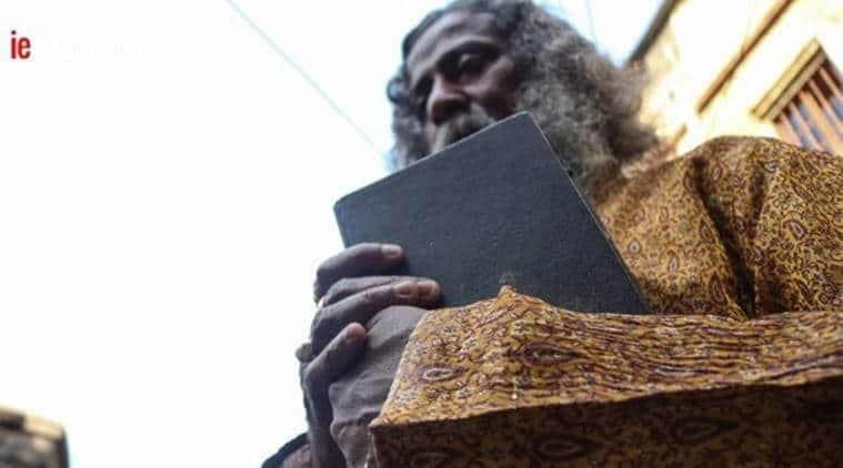 rabindranath Tagore, rabindranath tagore lookalike, rabindranath tagore resemblance, somnath bhadra, indian express