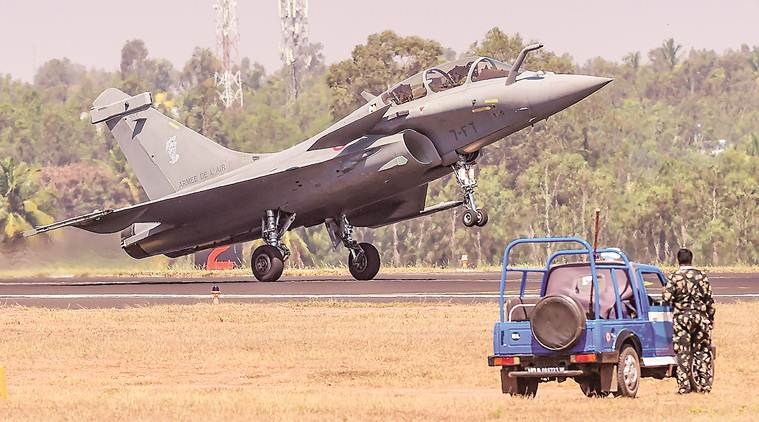 Aero India, 12th Aero India, Aero India show, rafale, rafale row, Hawk 132 aircraft crash, IAF Jaguar, Tejas LCA, Sukhoi 30, Nirmala Sitharaman, Indian air force, indian express