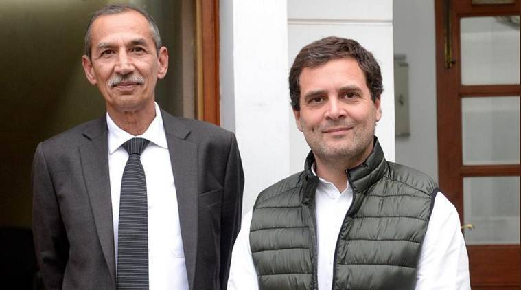 rahul gandhi, Lt General D S Hooda, pulwama attack, pulwama terror attack, congress on pulwama terror attack, national security report, Indian express