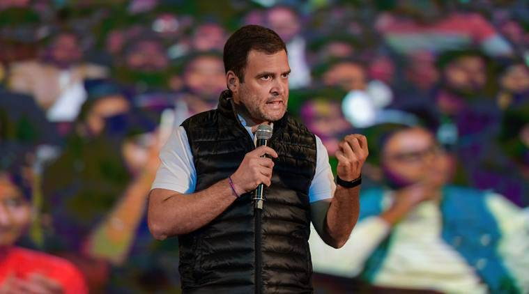 Rahul Gandhi, Narendra Modi, Rahul Gandhi with university students, Pulwama attack, Rahul Gandhi Congress, Pulwama attack, Congress Rahul Gandhi, BJP Congress, Indian express, India news