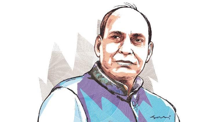 Lok sabha elections, BJP, Rajnath Singh, Rajnath singh Lucknow seat, lucknow lok sabha seat, rajnath singh election campaign, Indian express