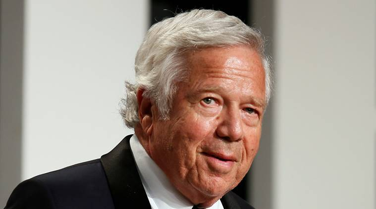 New England Patriots owner Robert Kraft arrives for the 89th Academy Awards Oscars Vanity Fair Party in Beverly Hills, California, U.S.