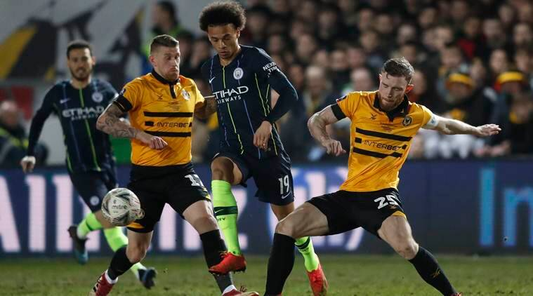 Manchester City overcome stubborn Newport to reach FA Cup quarters