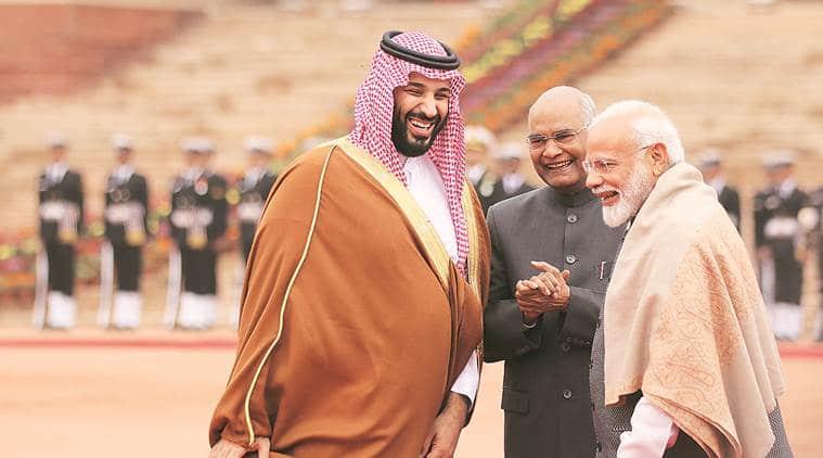 saudi prince in India, Saudi Arabia Prince in India, PM modi, PM Modi meet Saudi Arabia Prince, Modi Saudi Arabia Prince, Mohammad Bin Salman