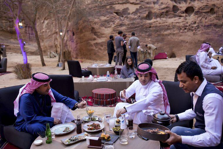 Trying to lure tourists, Saudi Arabia hosts music festival near ancient tombs