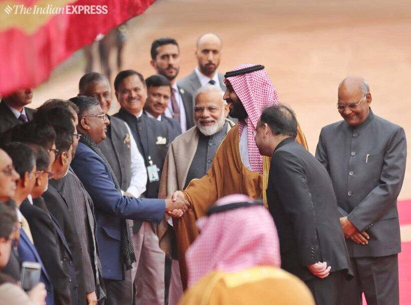 Saudi Prince gets ceremonial welcome at Rashtrapati Bhavan