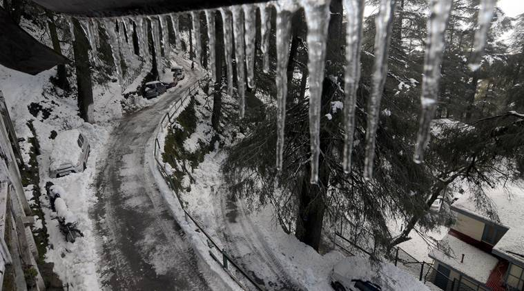 himachal pradesh, cold wave, cold wave conditions, cold wave conditions himachal pradesh, minimum temperature, MeT department, shimla, dalhousie, kufri, kinnaur, kalpa, lahaul, spiti, keylong, snowfall, rains, india news, indian express news