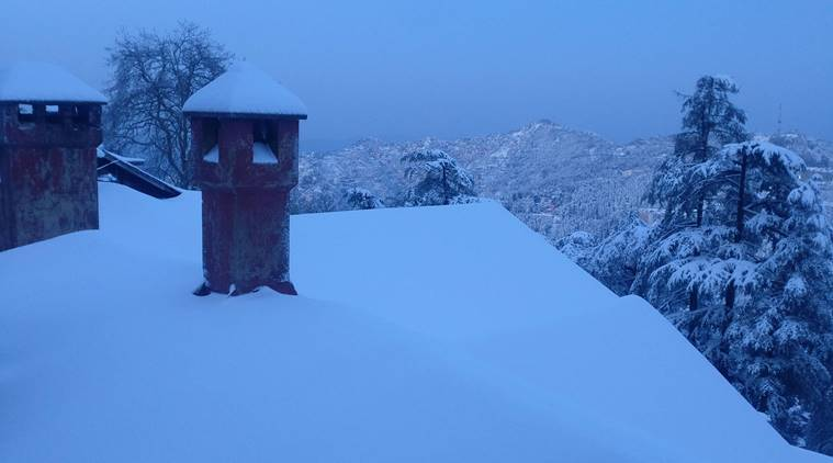 Snowfall in Himachal and Uttarakhand; Shimla wrapped in white blanket | See pics