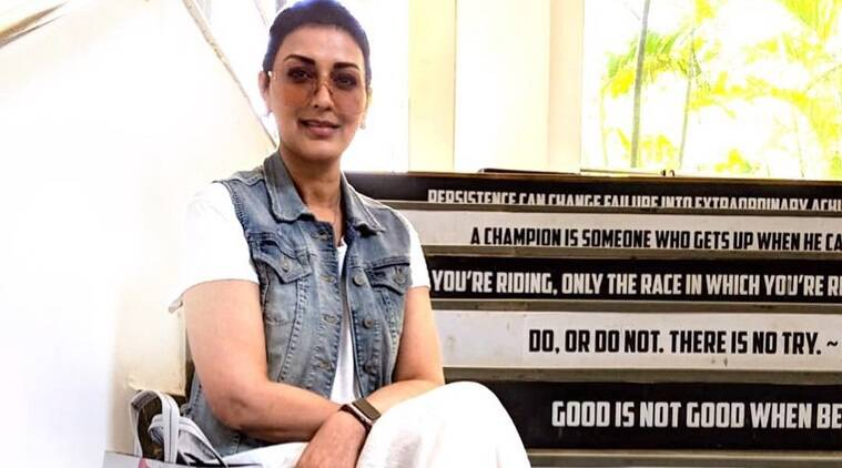 Sonali Bendre back on set