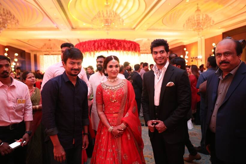 Soundarya Rajnikanth and Vishagan Vanangamudi reception photo