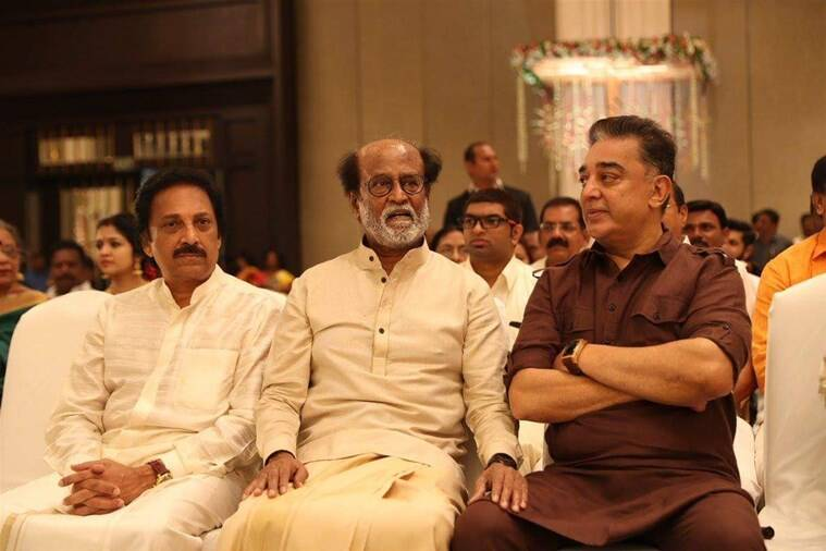 rajinikanth kamal haasan at soundarya vishagan wedding