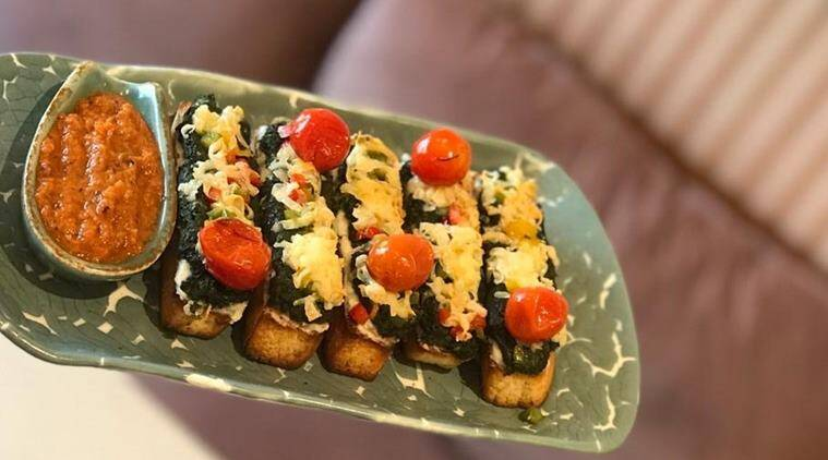 Spinach cheese toast recipe