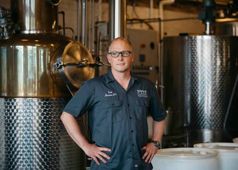 Scott Harris, the founder of the Catoctin Creek distillery in Purcellville.