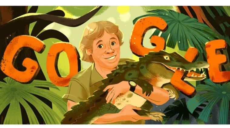 Steve Irwin, Google doodle, steve irwin google doodle, Bindi Irwin, The Crocodile Hunter, Steve Irwin birth anniversary, Steve Irwin google doodle, Steve Irwin doodle, today google doodle, February 22 google doodle, Animal Planet, World news, Indian Express