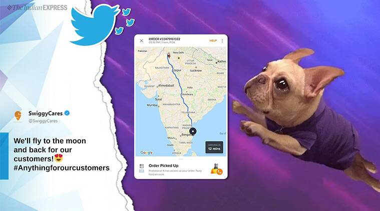 Food app shows order going from north to south India, company's reply steals show