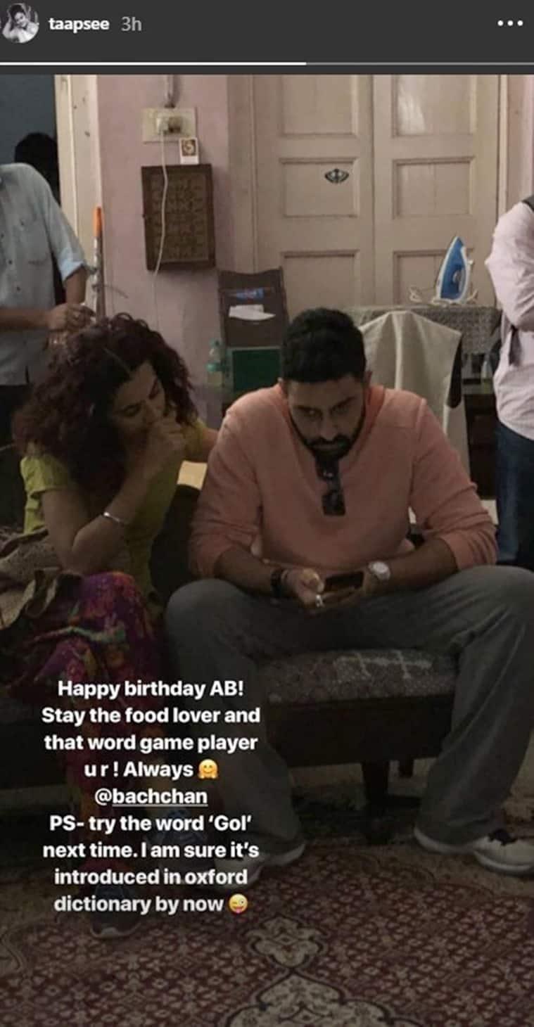 taapsee pannu abhishek bachchan birthday wish