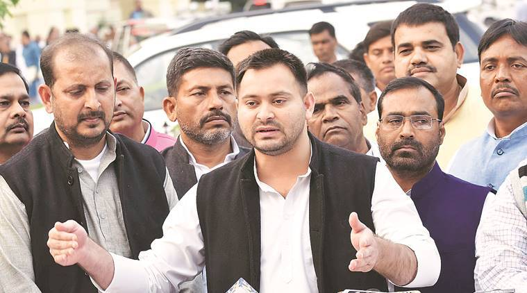 Bihar: Tejashwi Yadav back in action with late night dharna