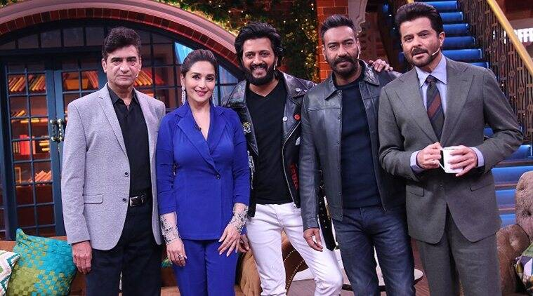 Total Dhamaal Madhuri Dixit Ajay Devgn The Kapil Sharma Show Anil kapoor