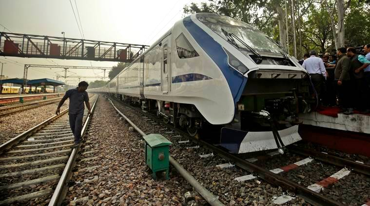 The train was being moved to Delhi for the first commercial run on Sunday. (Express photo)