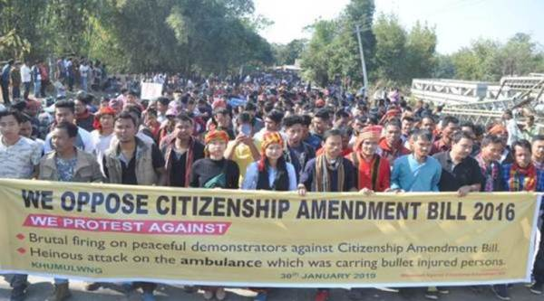 Protests erupted against the anti-Citizenship Amendment Bill in Tripura earlier this week. (Express file photo/Debraj Deb)